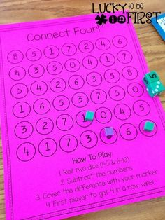 Math Mania Games Connect Four Lucky to Be in First
