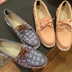 Sperry. Those anchor boat shoes are pretty adorable.