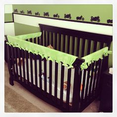 Protect Your Crib From Chewed Edges (and your baby from eating paint flecks) with a Little Fleece