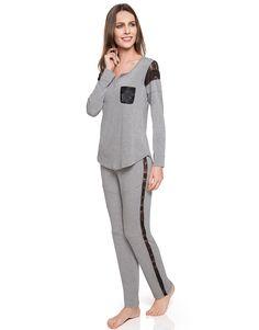 Pijama Longo Malha Jogging Josie