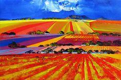 Artwork of Derric van Rensburg exhibited at Robertson Art Gallery. Original art of more than 60 top South African Artists - Since Landscape Illustration, Landscape Art, South African Artists, Art Quotes, Original Art, Landscapes, Art Gallery, Sketch, Van