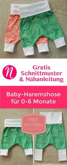 Grow-with-me baby harem pants - FREE instant download PDF sewing ...
