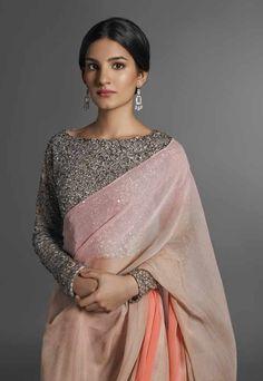 crop top sequenced sari blouse by pinakin patel