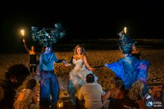 Rosewood Mayakoba, Fire show on the beach by 20Varos Collectivo