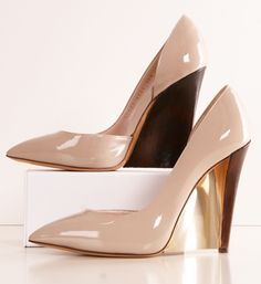 Casadei Nude Pointed Wedges