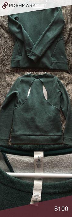 LULU CREW NECK Brand new, lululemon crew neck. Cut outs on back. Make an offer lululemon athletica Sweaters Crew & Scoop Necks