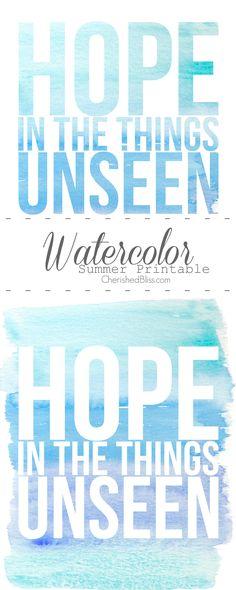 Watercolor Summer Printable