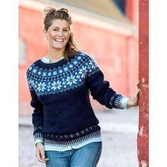 Sweater med stjernebort i Pelsuld Fair Isle Knitting Patterns, Yoko, Amanda, Men Sweater, Pullover, Casual, Jeans, Fair Isles, Design