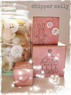 Vintage New Baby Blocks for girls