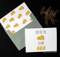 Rock Candie Designs You're The Cheese to my Macaroni Card for your boyfriend, girlfriend, husband, wife, significant other or best friend or sister. The cutest card to give for a birthday, valentines day or just because!