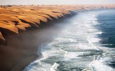 Locul în care deșertul Namib se întâlnește cu marea