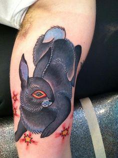 Fire Rabbit   Rabbit Tattoo