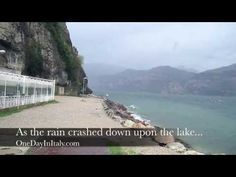 Malcesine, Italy:  Lake Garda in the Rain Watch the video: www.OneDayInItaly.com #travel #italy