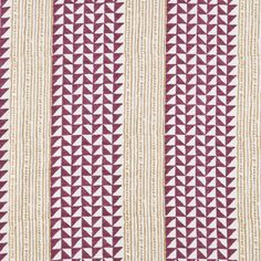 Aegean stripe by Carolina Irving is also gorgeous in the Plum/Saffron.