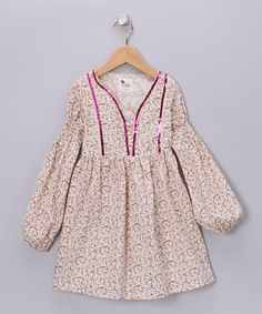 Take a look at this Pink Floral Morgan Dress - Toddler & Girls by La faute à Voltaire on #zulily today!
