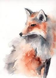 Resultado de imagem para Watercolor fox