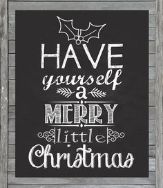 Christmas Chalkboard Printable  Instant Download  by JustAPeekAHoo, $5.00