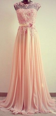Blush Lace Wedding Dress with Illusion Neckline and Floral Detail. Perfect for a second dress