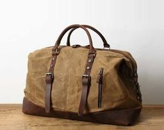 Handmade Distressed Leather Water Proof Waxed Canvas Duffel Bag Weekend Bag Overnight Bag Holdall Luggage Bag Travel Bag Carryon Duffle Bag · Bags · Online Store Powered by Storenvy Mens Overnight Bag, Mochila Nike, Waxed Canvas, Cotton Canvas, Tote Bag, Canvas Weekender Bag, Duffel Bags, Messenger Bags, Everyday Bag