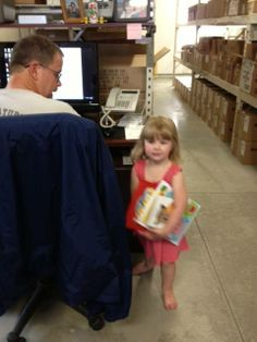 Our grand daughter...we told her to pick out ONE book!