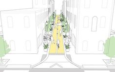 Commercial Alley - National Association of City Transportation Officials Urban Design Diagram, Urban Design Plan, Urban Landscape, Landscape Design, Villa Architecture, Urban Ideas, New Urbanism, Eco City, Urban Intervention