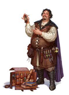 Male Human Alchemist Merchant - Pathfinder PFRPG DND D&D d20 fantasy