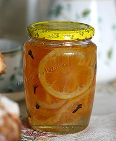 CONSERVAS: Naranjas y Limones Confitados Jam Recipes, Light Recipes, Sweet Recipes, Chutney, Salsa Dulce, Jam And Jelly, Tasty Bites, Fruit And Veg, Sin Gluten