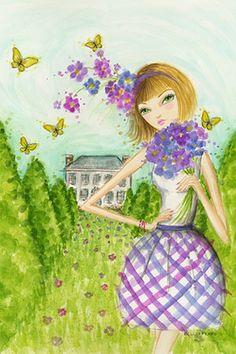"""Springtime at Summerside #2"" By Bella Pilar Canvas Print #BPR200"