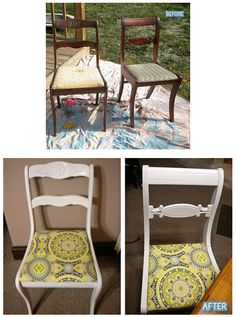 I new old chairs, want to do this for my kitchen table and chairs!!!