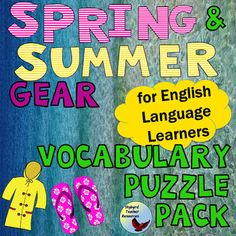 English Vocabulary Puzzles and English vocabulary for Beginner Level and Newcomer ESL students, English Language Learners, efl.  Learn English Clothing Vocabulary.