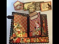 Dec 2014 G45 Raining Cats & Dogs - Part 4 How to make a 6 x 4 mini album with flaps from start to finish