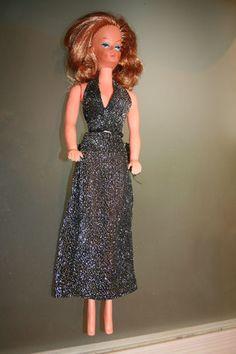 DDR Barbie Mannequin-Puppe Steffi VEB Puppenfabrik Waltershausen Lurex Kleid 92+3 euro