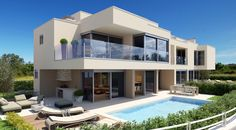 Luxury villas with swimming pool and sea view in Istria