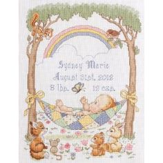 Bucilla Baby Our Little Blessing Birth Record Counted Cross Stitch Kit, 10-Inch by 13-1/2-Inch $16.99