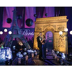 Woah. Prom in your backyard! Lol... The City of Romance Theme Kit will transform your party venue into a romantic Parisian setting that will sweep you off your feet!