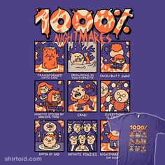 1000% Nightmares | Shirtoid #couk #film #fonzie #horror #movies