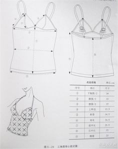 Camisole Pattern Drafts and Tutorials From http://www.farmanl.com/article/221/20110423175356021.html