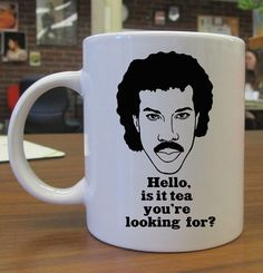 Lionel Richie Hello is it tea you're looking for by kembangdeso, $15.99