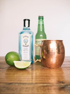 Gin, Lime & Ginger Beer Cocktail