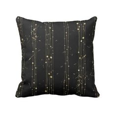 Gold Foil (Faux) Static Throw Pillow ($32) ❤ liked on Polyvore featuring home, home decor, throw pillows and quote throw pillows