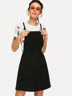 0476b18046 Crisscross Back Overall Dress -SheIn(Sheinside) Dress P