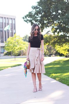 Ruffle Wrap Skirt