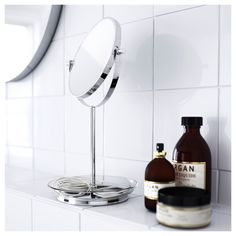IKEA offers everything from living room furniture to mattresses and bedroom furniture so that you can design your life at home. Check out our furniture and home furnishings! Luz Solar, Ikea Mirror, Mirror Glass, Recycling Facility, Magnifying Mirror, Sink Accessories, Fixation, Window Cleaner, Tampons