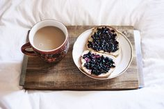 This gives me an idea: my cardamom-spiced blueberry compote smeared on cardamom bread, with coffee.  I'm trying it.