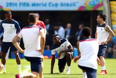 Paul Pogba of France lookson during a France national team training...