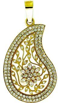 Paisley diamond pendant