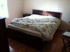 ikea brusali bed with 4 drawers assembled in Northern Virginia by Furniture Assembly Experts LLC