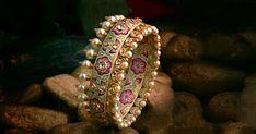 Latest meenakari bangles Bridal Bangles, Gold Bangles, Bridal Jewelry, Gold Jewelry, Jewelery, Indian Bangles, Thread Bangles, Jewellery Rings, Diamond Jewellery
