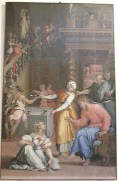 Jesus Christ in the House of Martha and Mary - Giorgio Vasari