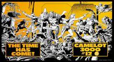 DC Comics promotional poster - Camelot 3000 #12 - 1984